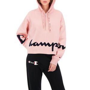 sweatshirt champion femme rose