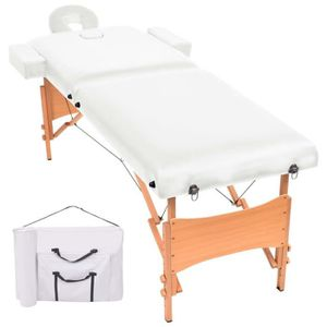 Table de massage Table de massage pliable à 2 zones 10 cm d'épaisse