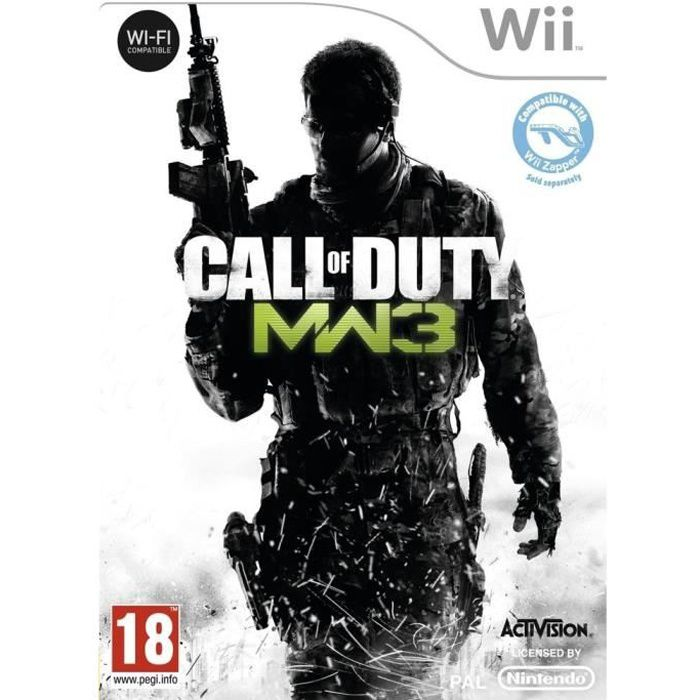 JEUX WII Call of Duty Modern Warfare 3 Jeu Wii