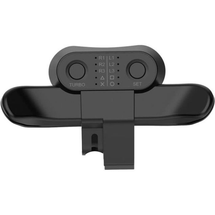 Fixation du bouton arrière des palettes de contrôleur pour adaptateur d'extension de la manette de jeu PS4 Noir
