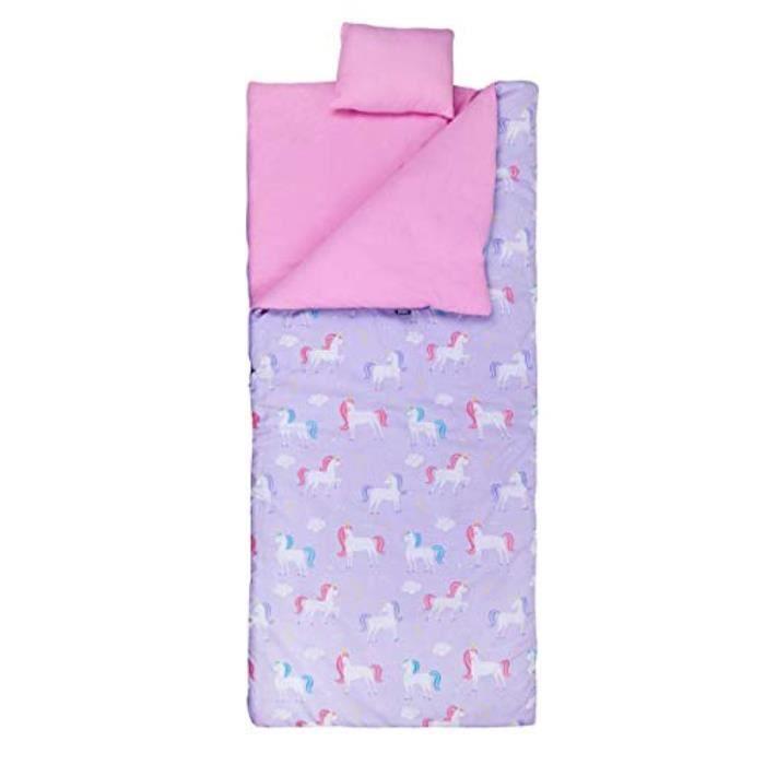 Coffret Multi-Jeux GHVA7 sac de couchage pour et comprend oreiller et sac de rangement, taille parfaite pour les soirées pyjama, le