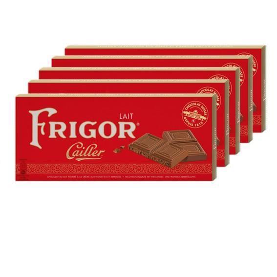 5 Tablettes Cailler Frigor Lait