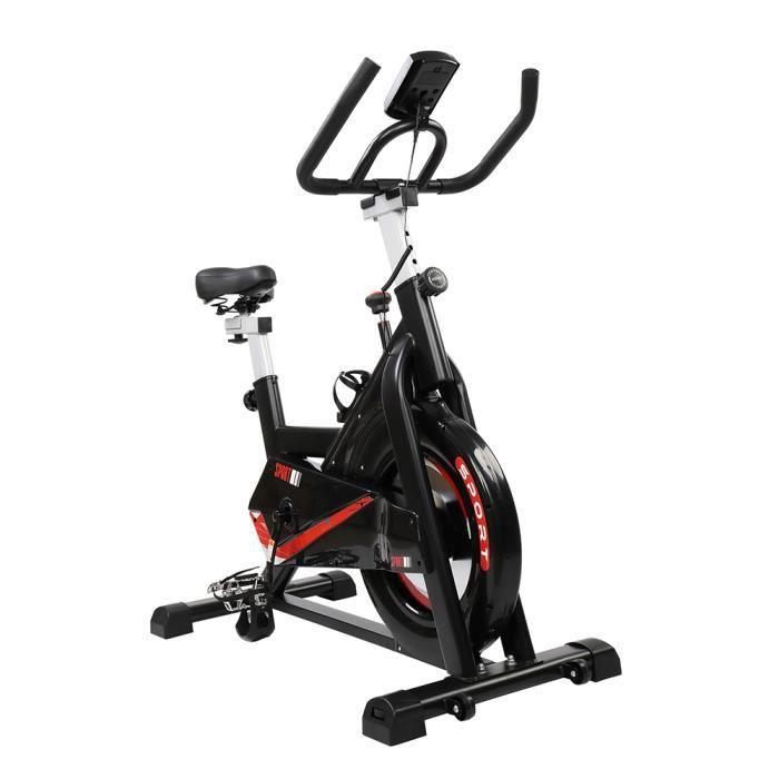 Vélo d'Appartement Fitness, avec Écran LCD, Vélo Sport Biking 105.5*56* (97-109)cm