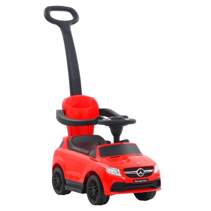Voiture à roulettes avec poussoir Mercedes Benz GLE63 Rouge-YWT