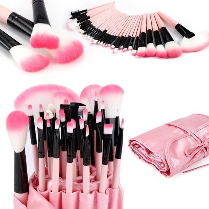 ROSE 32 pcs Pinceaux de Maquillage Set Outils Pro Fondation Fard à Paupières Eyeliner Supérieure Doux
