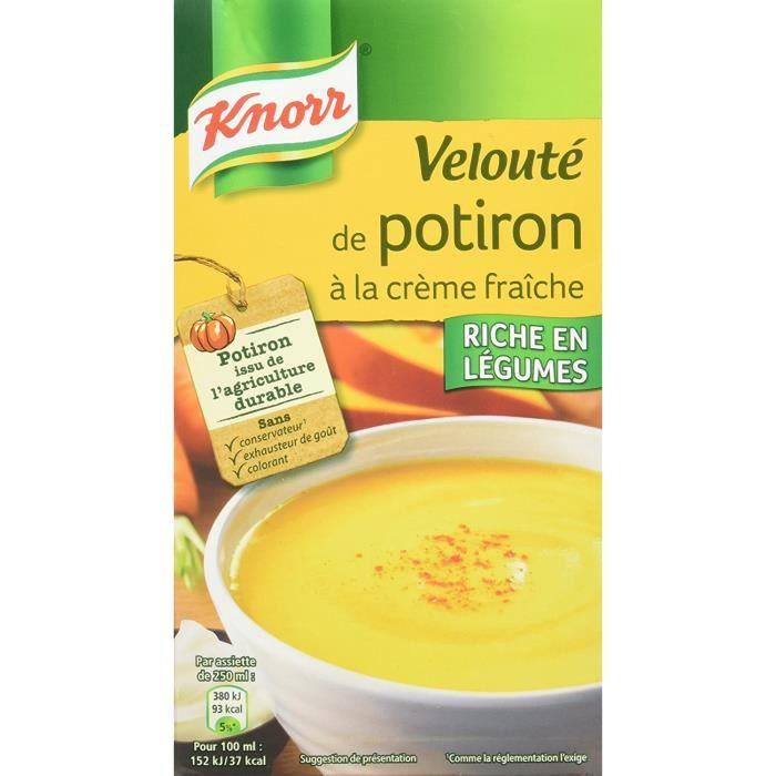 Knorr Soupe Velouté de Potiron à La Crème Fraîche 1 L