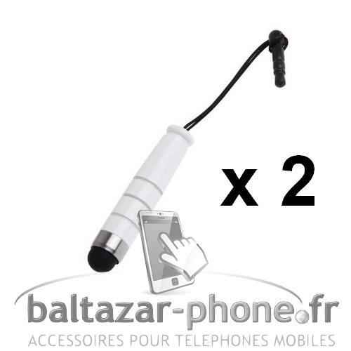 2 Mini Stylets blanc pour Thomson TLink 410
