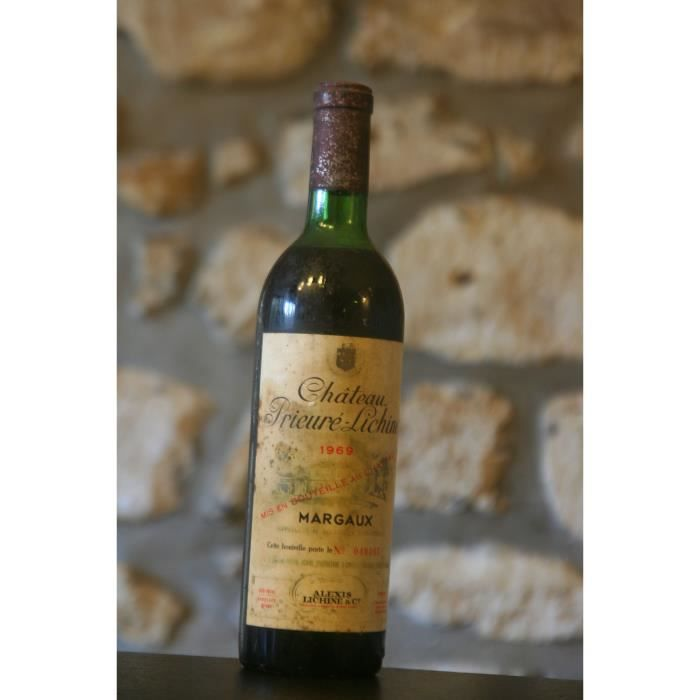 Vin rouge, Château Prieure Lichine 1969 Rouge
