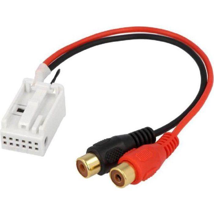 Cable Autoradio Adaptateur RCA - Mercedes A/ B/ C/ CLK/ GL/ M/ R/ S/ SL