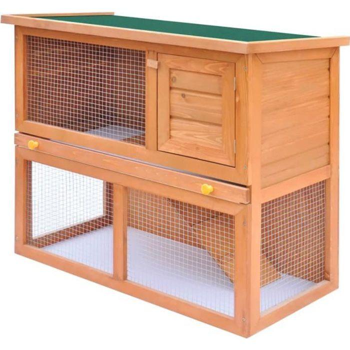 Clapier d'extérieur Enclos poulailler pour petits animaux Poules Lapins -90 x 45 x 80 cm (L x l x H) Enclos pour petits anim🌈8817