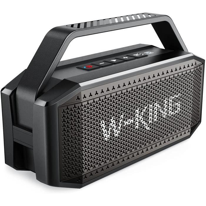 Enceinte Bluetooth, 60W Portable Bluetooth Speaker - Basse puissante Haut Parleur Boombox - Autonomie 40 hrs - 12000mAh Batteri[8]
