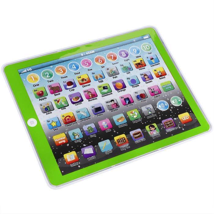 ARAMOX jouet de coussin d'anglais pour enfants Enfants Enfants Tablette Pad Électronique Préscolaire Anglais Apprentissage