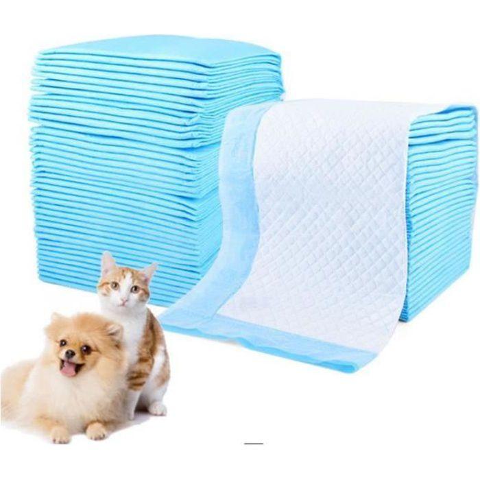 JZ08075-100 pcs tapis de proprété chien alèse d'apprentissage proprété ducateurs chiot animalerie alaises chaton chat 33*45cm