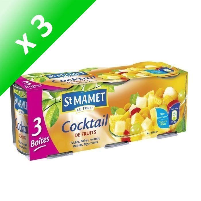 Lot de 3 Cocktails de fruits - 125 g (Lot de 3)