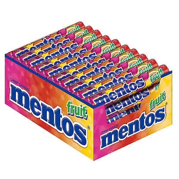 Mentos Fruits Bonbons Dragees 40 x 38g
