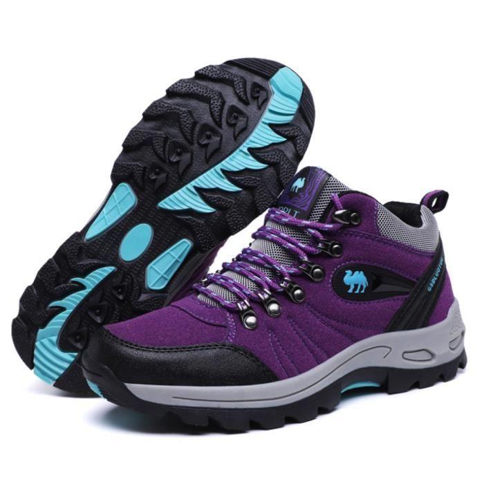 Chaussures Randonnée Femme l'automne et l'hiver anti-dérapant Confort Respirant Chaussures