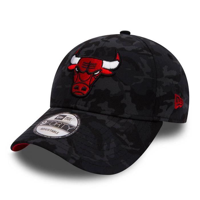 Casquette New Era Chicago Bulls 9forty unitaille Noir