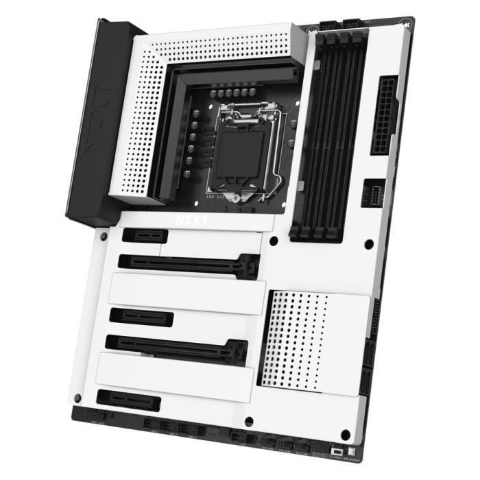 NZXT N7 Z390 - White - Carte mère ATX Socket 1151 Intel Z390 Express - 4x DDR4 - SATA 6Gb/s + M.2 - USB 3.1 - 2x PCI-Express 3.0