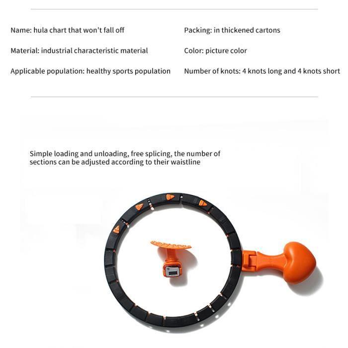 Comptage intelligent cerceaux détachables débutants réglables taille mince perte de poids Fitness taille cercle d'entraînement