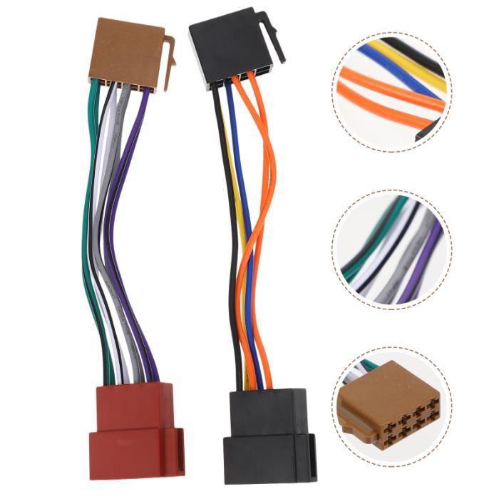1 paire Voiture Audio Lecteur Puissance Câblage Adapteure kit d'installation d'autoradio confort conducteur passager