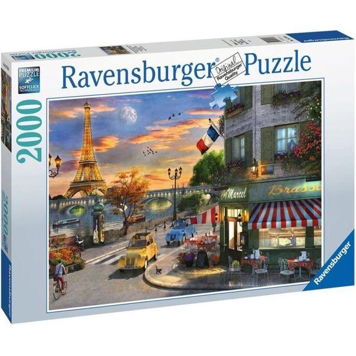Puzzle 2000 pièces - Une soirée romantique à Paris - Ravensburger - Puzzle adultes - Dès 14 ans