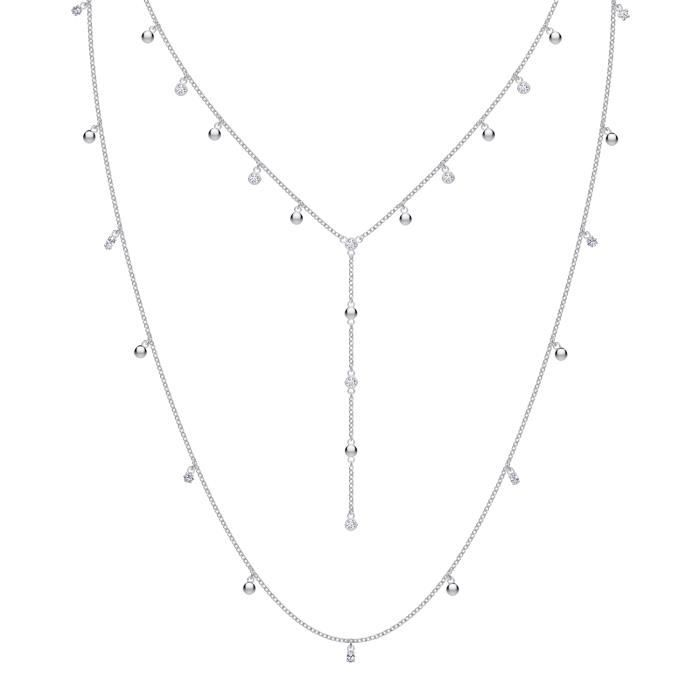 Sautoir - Collier - Collier Swarovski Moonsun layer - Matière:Plaqué