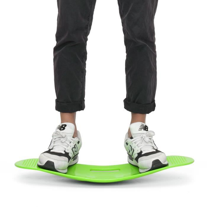 TEMPSA Unisexe fitness planches d'exercices entraînement Balance équilibrage 60X25cm VERT