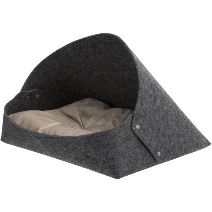 TRIXIE Abri douillet Arta - Feutre - 46 x 35 x 50 cm - Gris anthracite - Pour chat