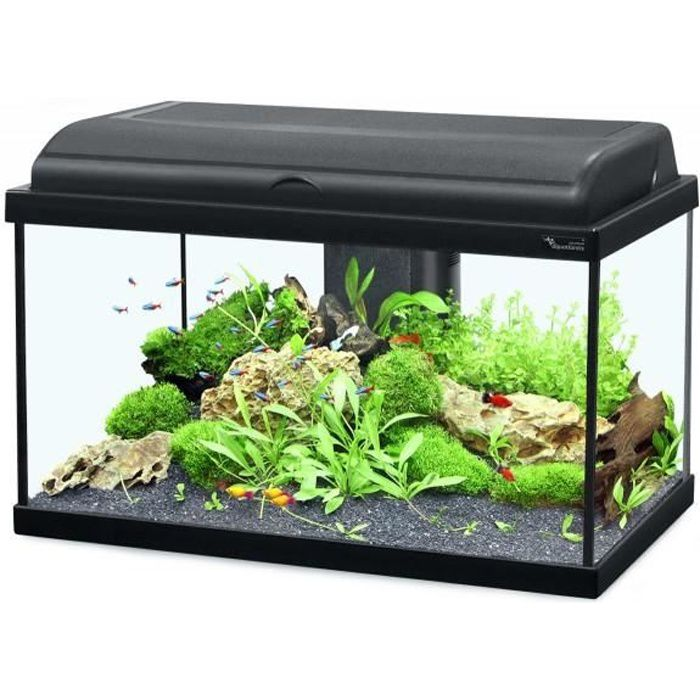 aquadream 60 noir led 54 litres achat vente aquarium aquadream 60 noir led 54 li cdiscount. Black Bedroom Furniture Sets. Home Design Ideas
