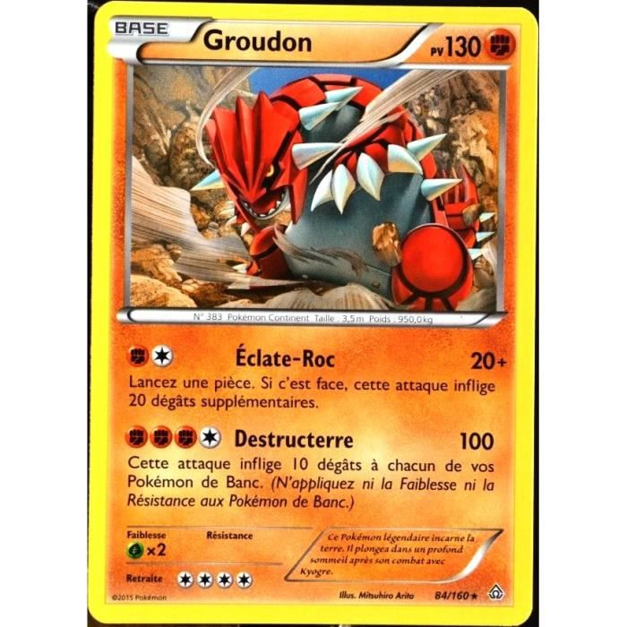 Carte pok mon 84 160 groudon 130 pv s rie xy achat vente carte a collectionner cdiscount - Cart pokemon xy ...