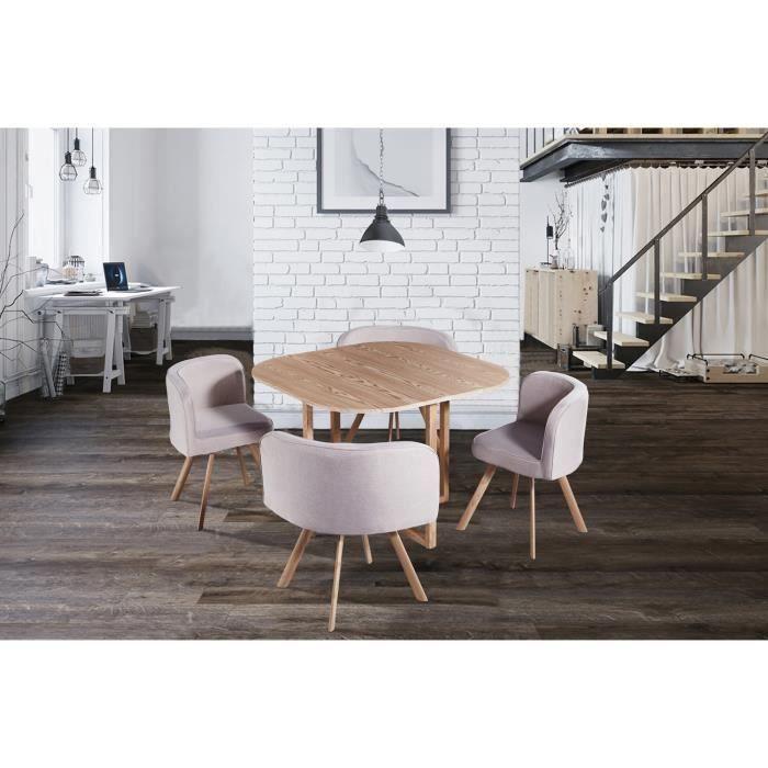 Table ronde avec chaises