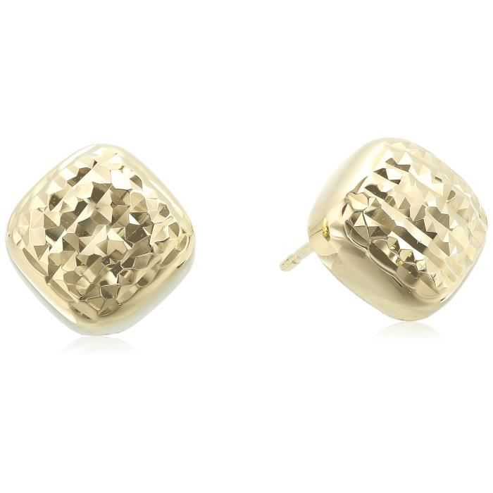 Craze 10k Yellow Gold Square Stud Earrings JF0R1 dQWJOCo5