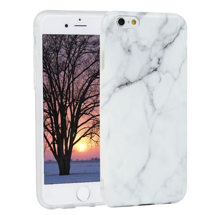 Coque iPhone 6/6s Silicone Transparent Souple Antichoc Matte ...