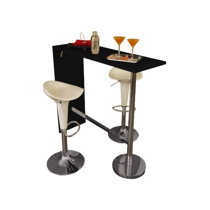 Table de bar london noire 2 tabourets fiesta achat for Achat table bar