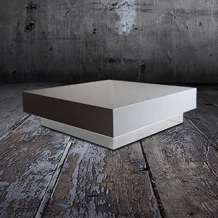 Table basse vip 100x100 coloris blanc achat vente - Table basse 100x100 ...