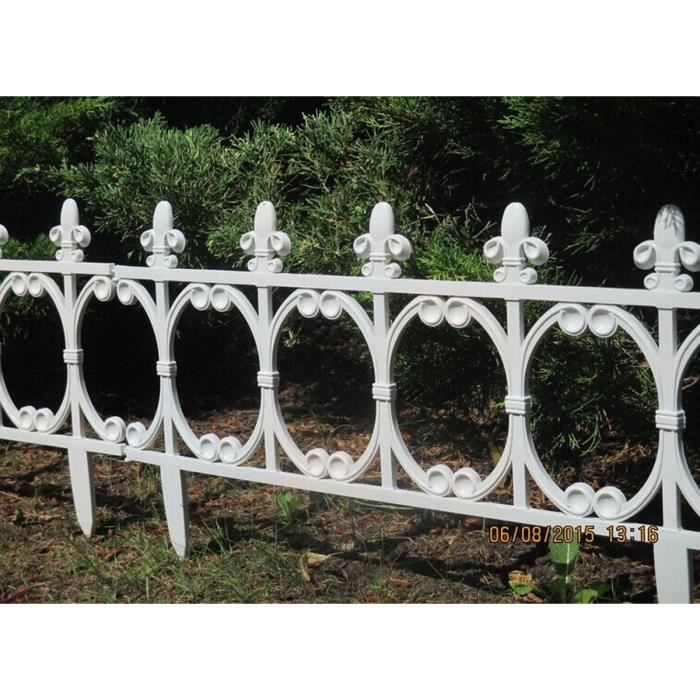 Pp plastique cl ture jardin fence stable decorative mesure d un l ment 63 5 33 8 1 cm - Cloture de jardin facile a poser ...