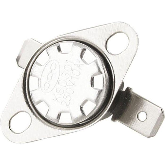 Manuel 5pcs Reset Interrupteur à température 115 ° C NC Bimétallique disque thermostat KSD301