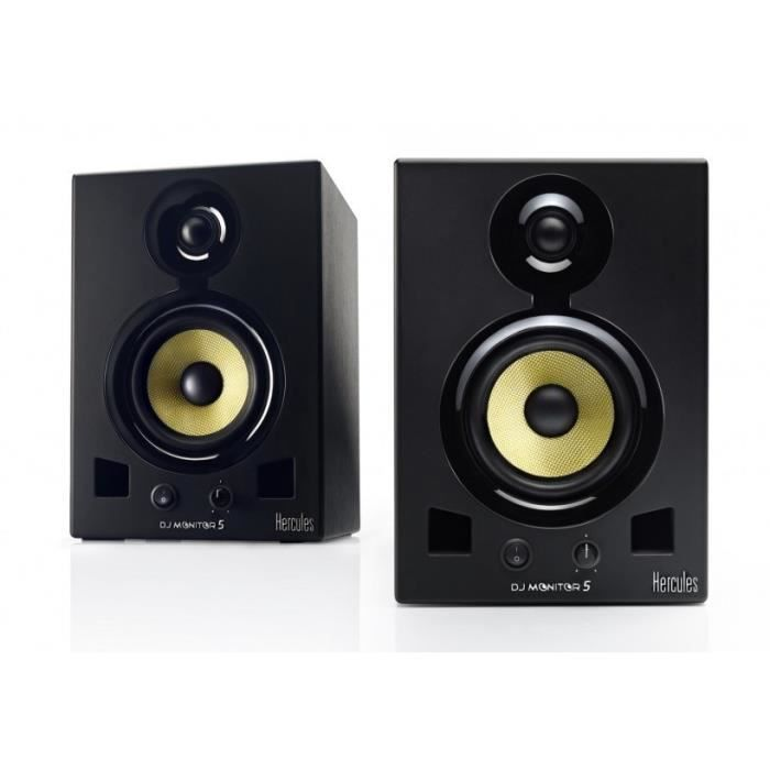 hercules dj monitor 5 enceintes de monitoring enceinte. Black Bedroom Furniture Sets. Home Design Ideas