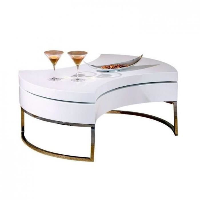 Table basse design modulable turnaround blanche achat for Table basse blanche design