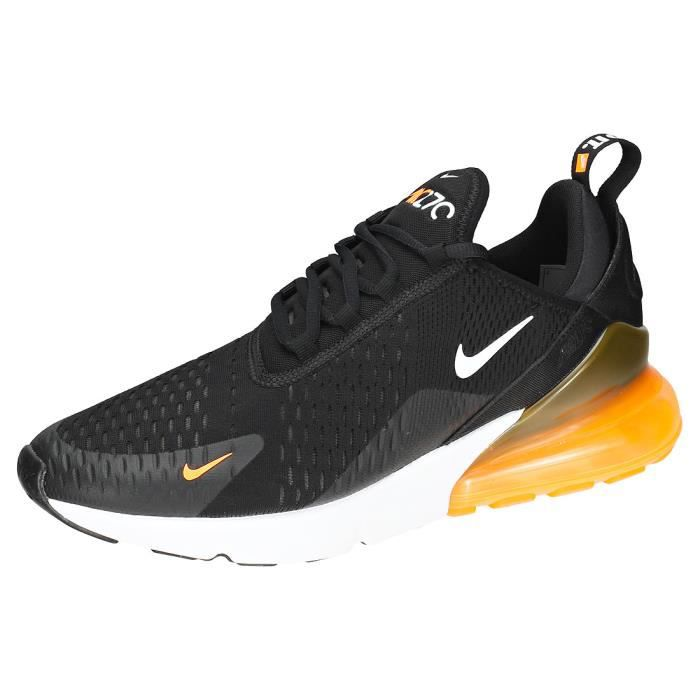 Nike Air Max 270 Homme Baskets Noir Orange Blanc Noir orange ...
