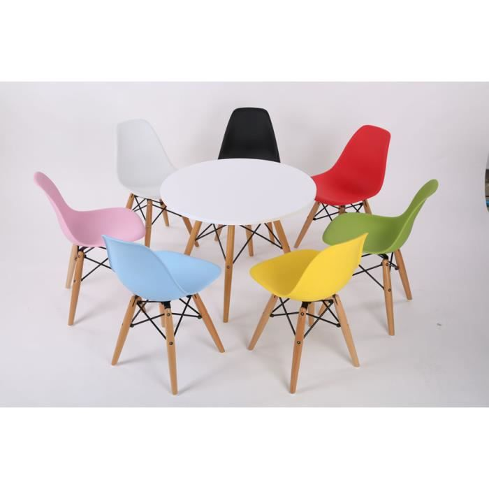 CHAISE DESIGN RETRO ENFANT VERTE