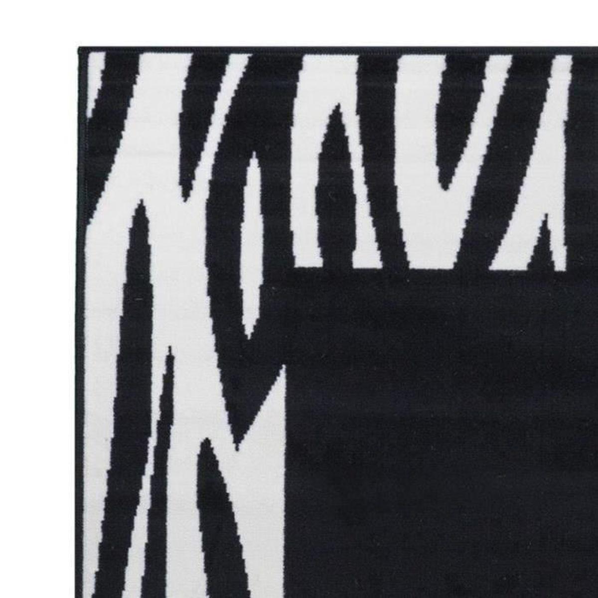 Debonsol Tapis Couloir Peau DE B/ÊTE Zebre Noir cr/ème 70x340cm