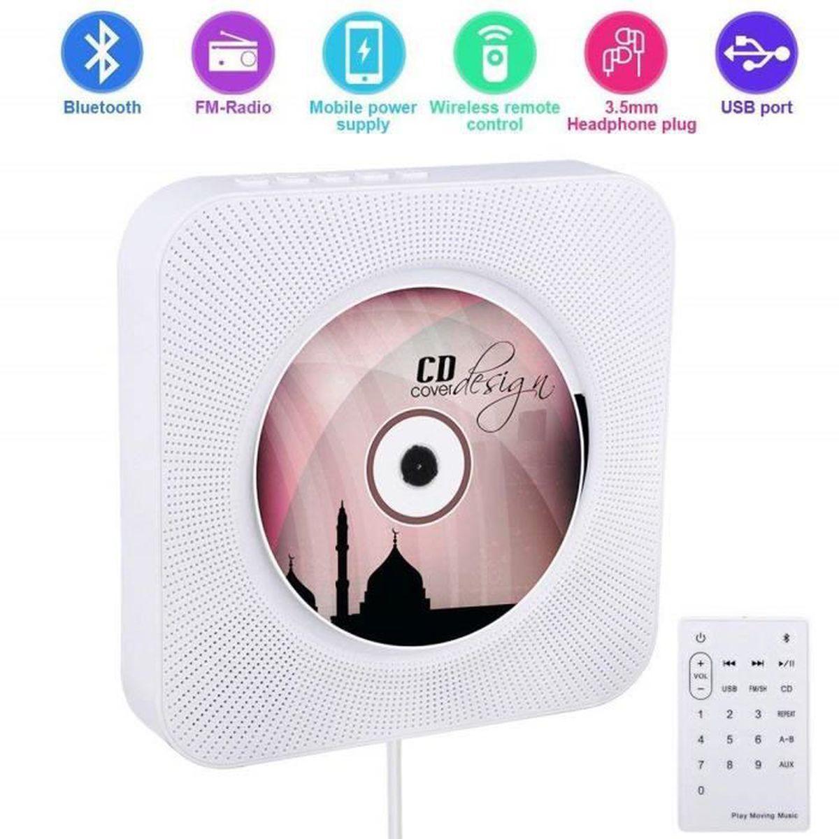 BALADEUR CD - CASSETTE Lecteur CD mural pour maison Lecteur CD Portable a