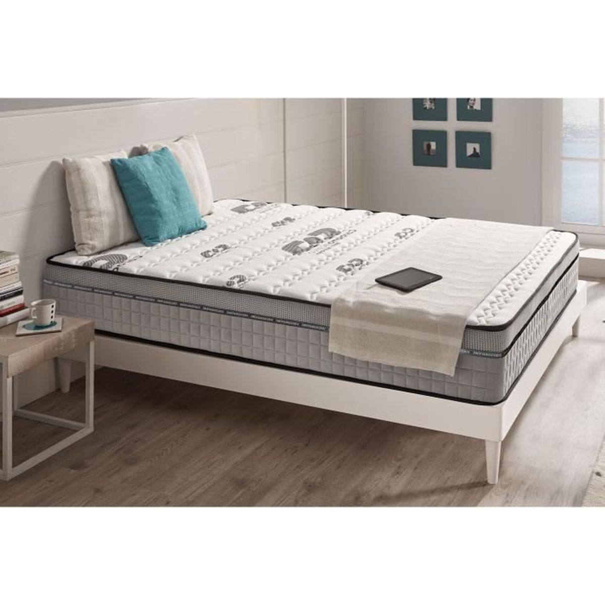 matelas 90x190 cm anti stress maxi carbone m moire de forme latex bio memory achat vente. Black Bedroom Furniture Sets. Home Design Ideas