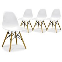 Zoom - Lot de 4 Chaises Design