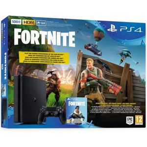 CONSOLE PS4 PS4 500 Go Noire + Fortnite