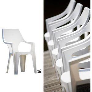 FAUTEUIL JARDIN   Lot de 6 fauteuils   coloris blanc ALLIBERT