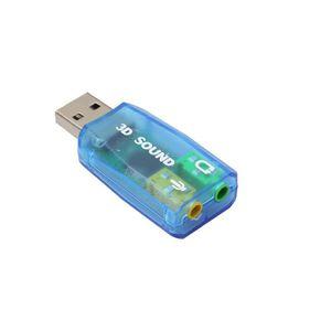 CARTE SON EXTERNE Adaptateur audio 3D Carte son 5.1 USB à 3.5mm casq