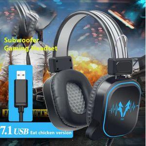 CASQUE AVEC MICROPHONE USB Casque Gaming pour PS4, Casque Gamer PC Basse