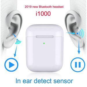 CASQUE - ÉCOUTEURS i1000 TWS in Ear Sensor 1: 1 chargeur sans fil éco